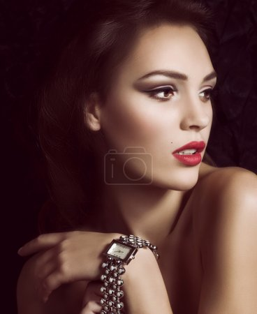 Woman with watch