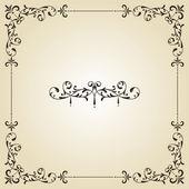 Vector vintage floral frame and retor royal label on gradient background fully editable eps 8 file