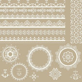 vector Lacy Ribbons Napkins and Design Elements