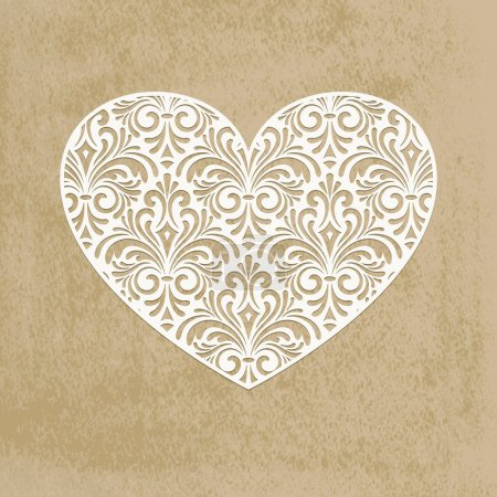 Vector paper cut heart
