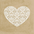Vector paper cut lacy heart, transparency effects ...