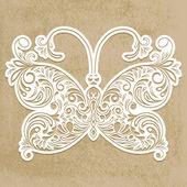 Vector paper cut butterfly