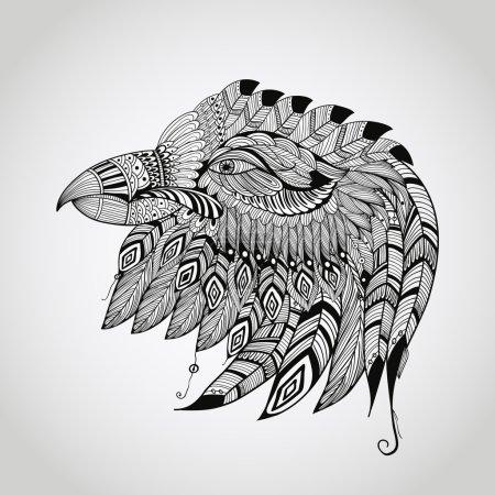 Vector Tattoo Eagle Head