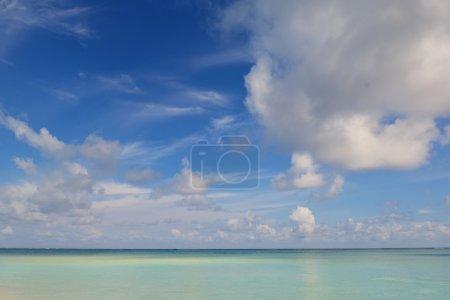 Tropical beach sky