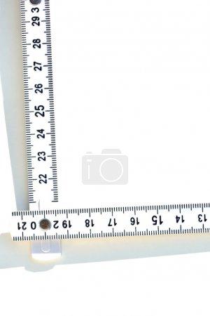 The metal angle ruler