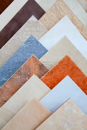 Photo for Samples of a ceramic tile in shop - Royalty Free Image