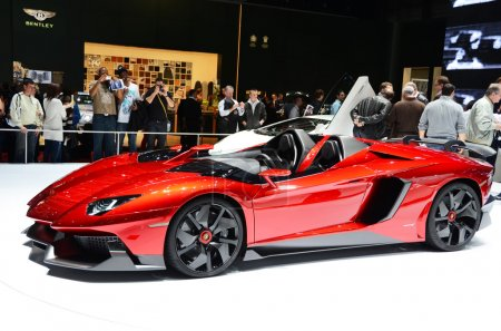 GENEVA - MARCH 12: Mansory Lamborghini Aventador on display at 8