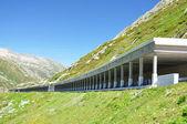 Road gallery at St. Gotthard pass, Switzerland