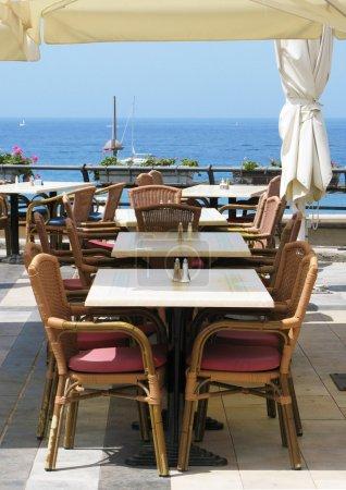 Sea-side cafe. Tenerife island, Canaries
