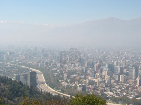 Thick smog over Santiago de Chile