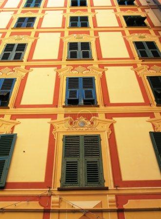 Traditional Ligurian house. Camogli, Italy