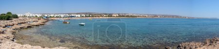 Panoramic view of Agia Napa Bay, Cyprus