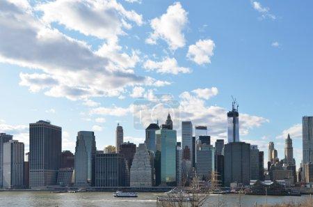 Manhattan Skyline over Hudson River.