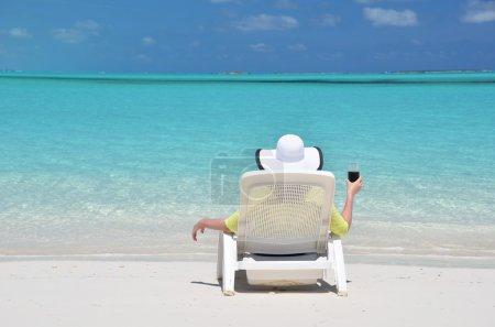 Beach scene. Exema, Bahamas