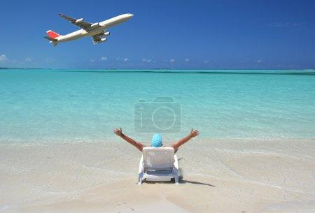 Photo pour Scène de plage. Exuma, Bahamas - image libre de droit
