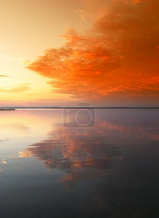 Photo for Scenic sunset over famous Belarusian lake Naroch - Royalty Free Image