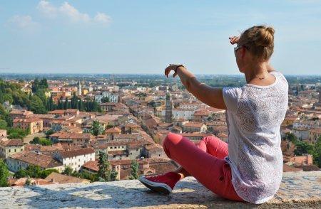 Girl looking at Verona