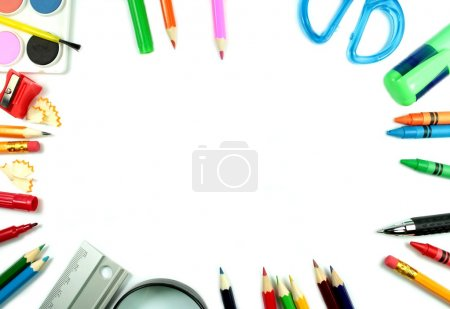 Photo for School supplies for young students - Royalty Free Image