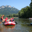 Dunajec River in Pieniny Mountains with Three Crow...