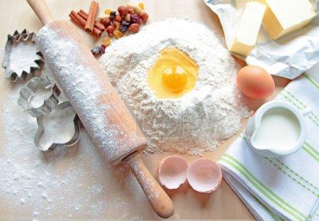 Photo for Baking ingredient to make a cake - Royalty Free Image