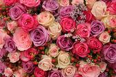 """Постер, картина, фотообои """"Пурпурный и розовый розы, Свадебный Расположение"""""""