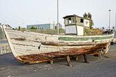 Historical spanish decoration wooden boat