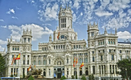 The Plaza de Cibeles in Madrid
