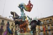 Las fallas, colorful funny figures