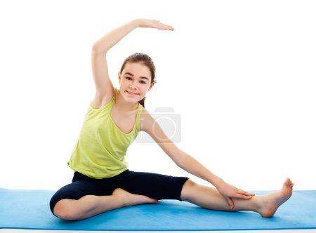 Active girl exercising