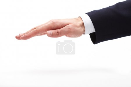 businessman hand isolated on white
