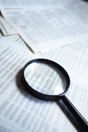 Magnifying glass on the document