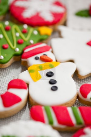 Photo for Homemade christmas cookies - gingerbread - Royalty Free Image