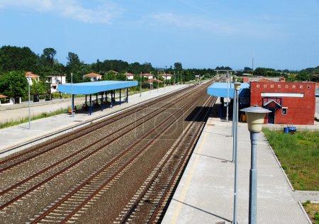 railway station in Nei Pori Greece