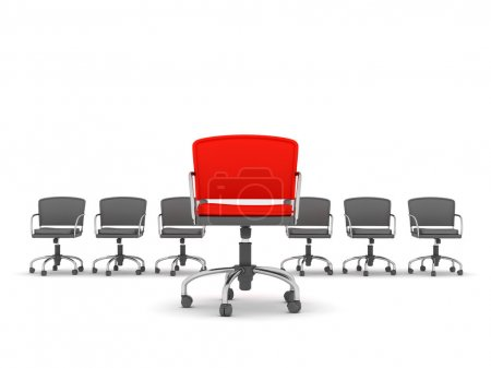 Leadership concept - chairs