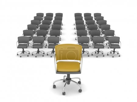 Leadership concept - office chairs