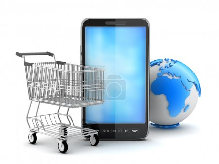 Online shopping - concept illustration