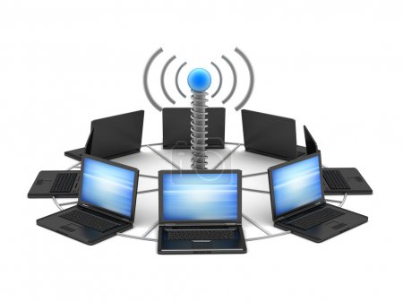 Photo for Wireless network - concept illustration - Royalty Free Image