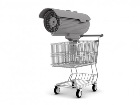 Security camera and shopping cart