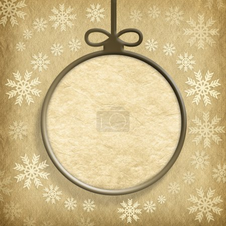 Christmas bauble and snowflakes