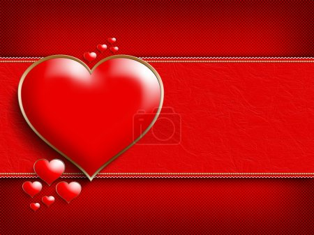 Photo for Valentine's Day - background of greeting card template - Royalty Free Image