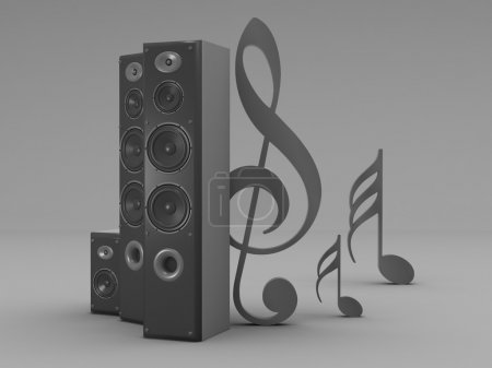Audio speakers and notes