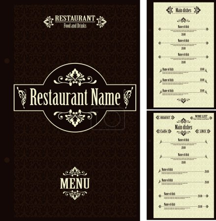 Illustration for Restaurant menu design template - vector - Royalty Free Image