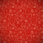 Red Christmas Traditional Background Vector illustration