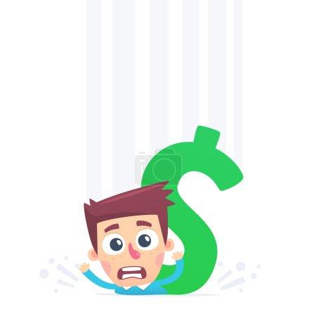 Illustration for Non returnable big debts - Royalty Free Image