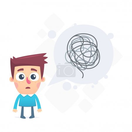 Illustration for Dialogue about difficult problems solved - Royalty Free Image