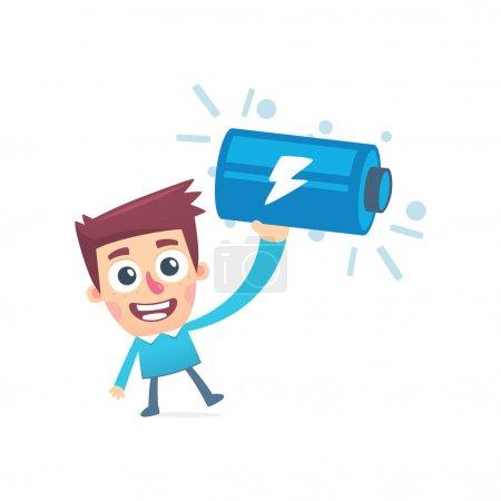 Illustration pour Charge complète de la batterie - image libre de droit