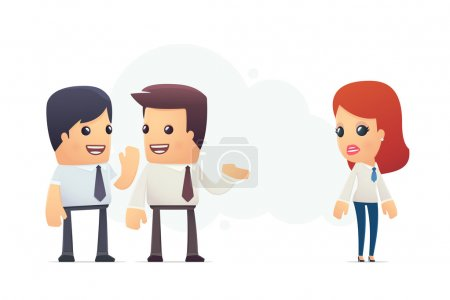 Illustration for Managers discuss new employee. conceptual illustration - Royalty Free Image