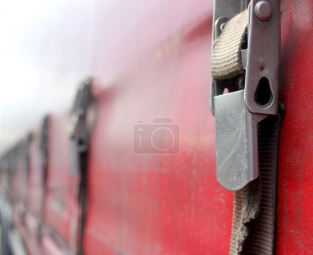 Security clasps on a truck
