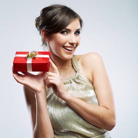 Woman hold gift