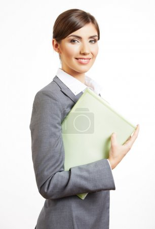 Business woman with paper folder